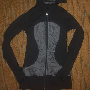 Lululemon long sleeve mesh Full Zip hoodie size 4